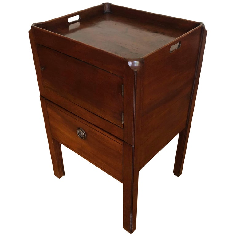 19th Century English Bedside Cabinet