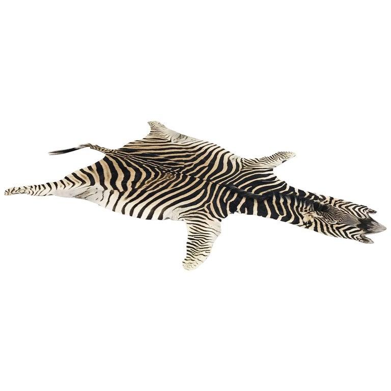 Authentic Zebra Hide Rug