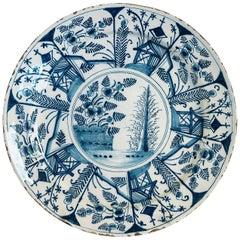 Sign by Jan Jansz Van Der Laen, Late-17th-century, Faience Delft Round Dish