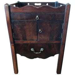 English Georgian Mahogany Bedside Cabinet