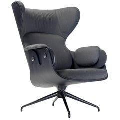 Lounger Armchair, Black Stained Ash