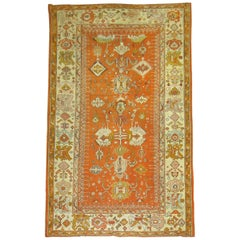 Antique Oushak Orange Rug