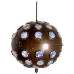 Unique Jeweled Sphere Pendent