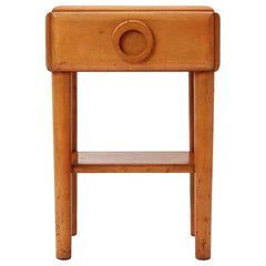 Solid Maple American Modern Nightstand by Russel Wright for Conan Ball