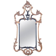 Large Antique Wall Mirror, Victorian, Classical Revival, Metal, Giltwood, Gesso