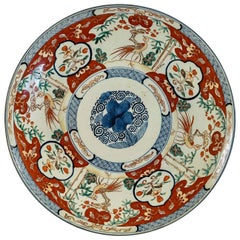 Mid-19th Century Chinese Polychrome Porcelain, Magnificent Round Dish circa 1850
