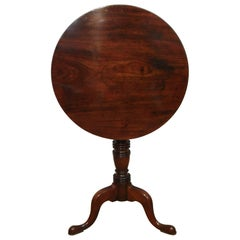 English Georgian Mahogany Tripod Table