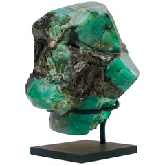 Mounted Emerald Mineral Specimen from Colombia