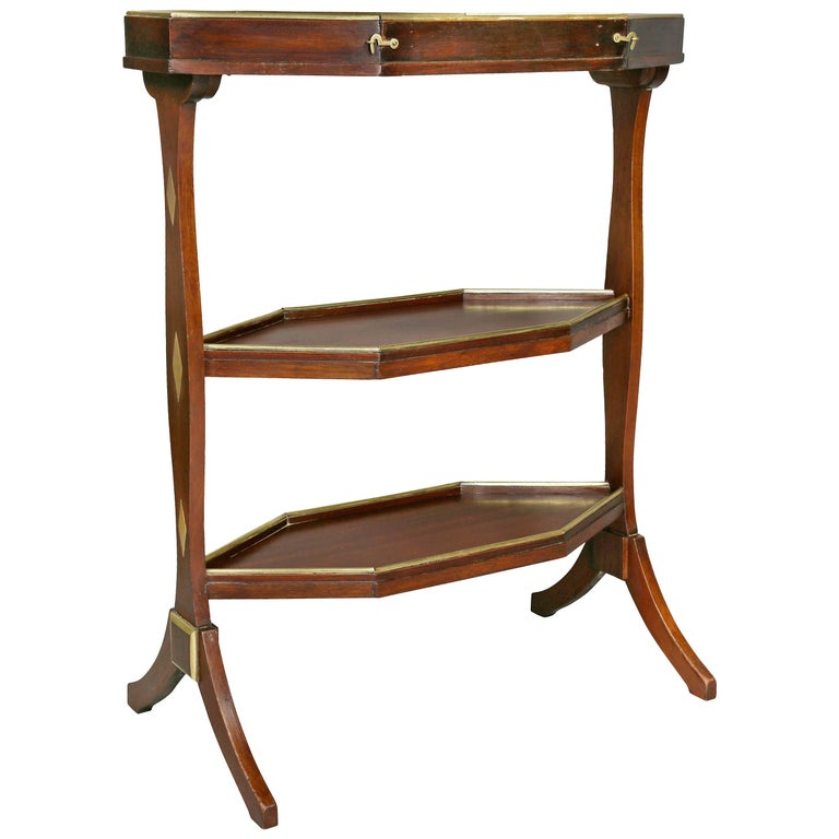 Directoire Mahogany and Brass Mounted Table