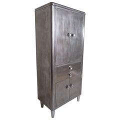 Vintage Medical Cabinet with Industrial Finish