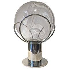 20th Century Italian Design Steel and Glass Table Lamp by Toni Zuccheri