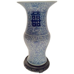 Ching Dynasty Blue and White Porcelain Vase