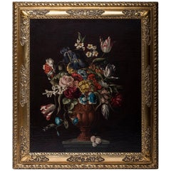 "Willem Verbeet Painting ""Flowers"""