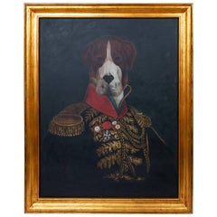 Royal Formal Attired Dog Portrait Oil Painting
