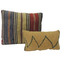 Pair of Vintage Petite Woven Turkish Decorative Pillows