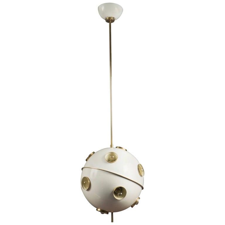 Spherical Hanging Light by Oscar Torlasco, Italy, 1960s