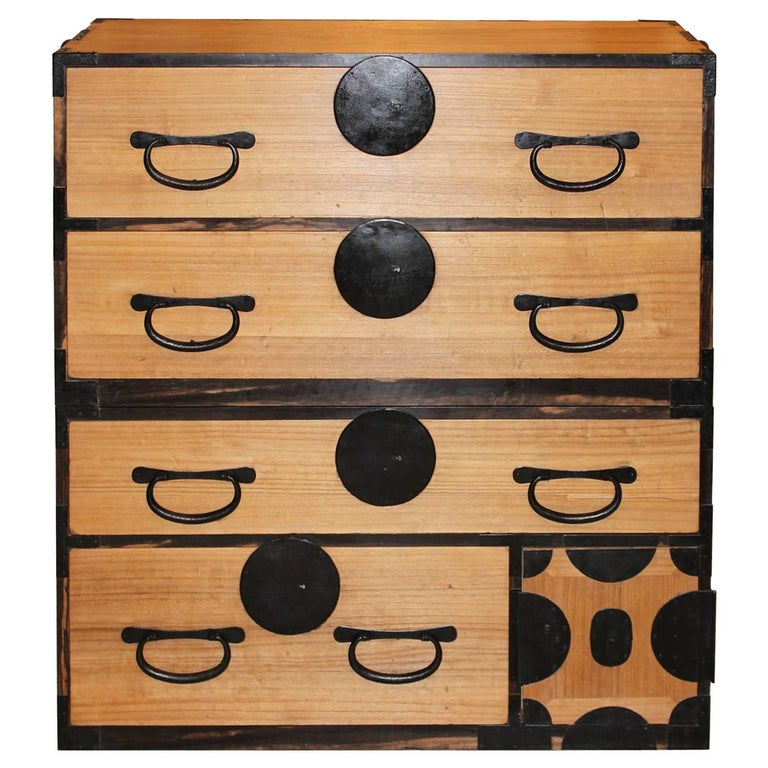 Japanese Kiriwood Clothing Chest