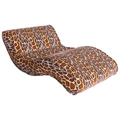 Bretz Laola Designer Daybed in Stunning Leopard Pattern Look Out of Best Fabric