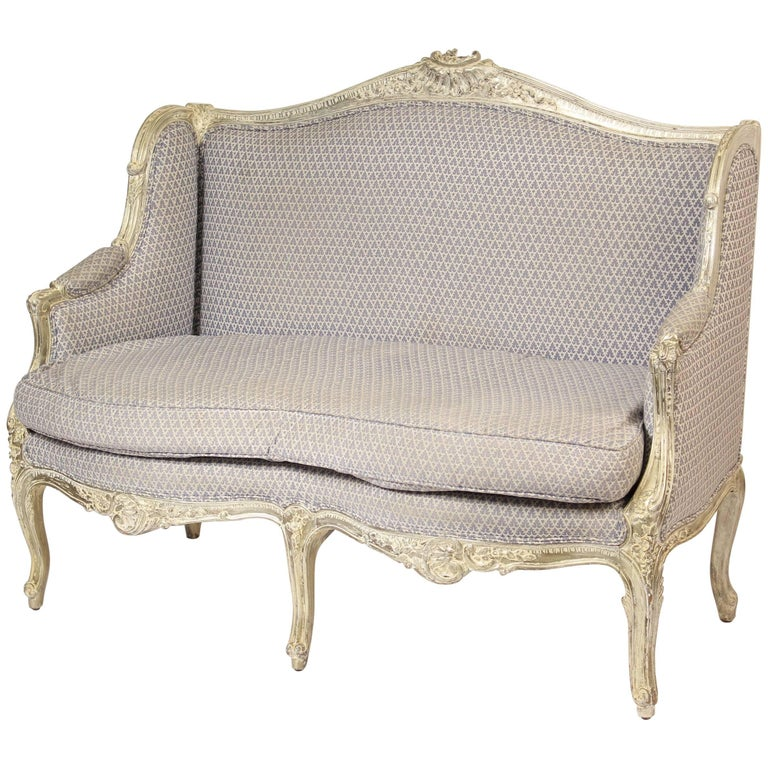 Louis XV Style Silver Leafed Settee