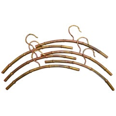 Set of Gilt Bamboo Coat Hangers