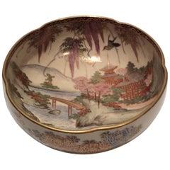 Meiji Period Japanese Satsuma Bowl Porcelain