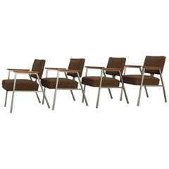 Set of Four Midcentury Steel Armchairs by McDowell