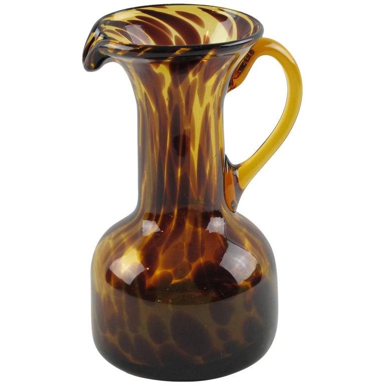 Empoli for Christian Dior Home Collection Tortoiseshell Glass Pitcher