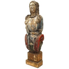 English Country Style '19th Century' Carved and Painted Figurehead