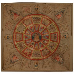 Yantra Prayer Cloth from Burma, Early 20th Century