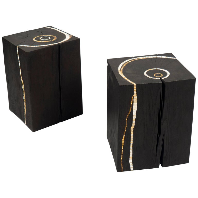 Pair of Side Tables by Suzanne Rippe, France, 2017
