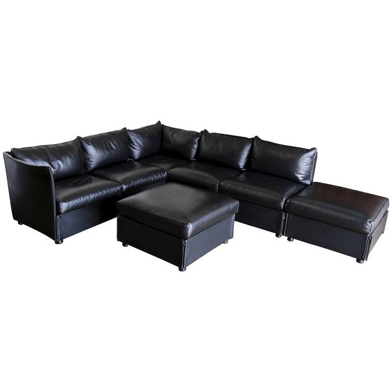 Modular Leather Landeau Sofa by Mario Bellin for Cassina