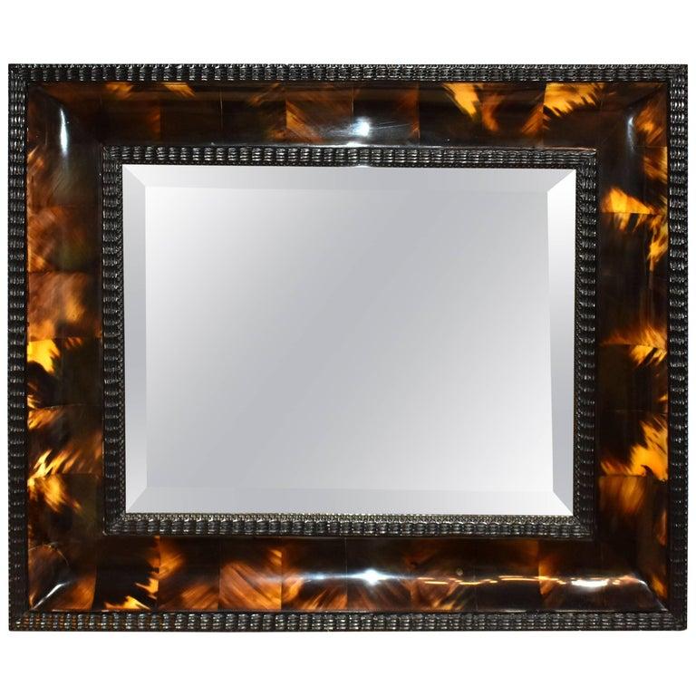 Flemish Style Horn Mirror