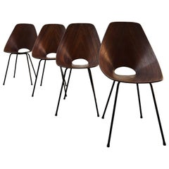 Vittorio Nobili Midcentury Rosewood Medea Dining Room Chairs, 1956, Set of Four
