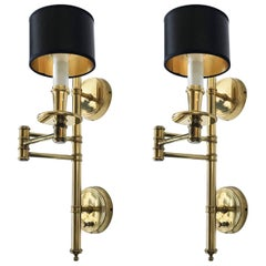 Pair of Swing Arm Sconces by Hansen