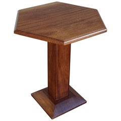 Early 20th Century Mint Condition Mahogany Art Deco End Table / Coffee Table