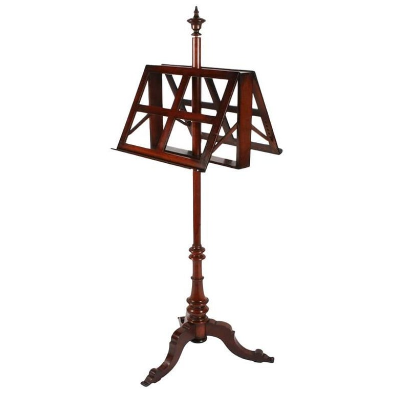 Victorian Mahogany Duet Music Stand, circa 1870 For Sale