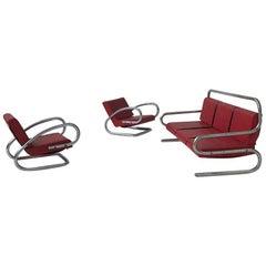 Rare Bauhaus Lounge Set Salesman Sample Furnitures from the 1930s