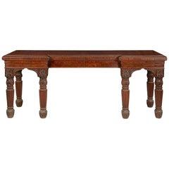 Regency Mahogany Breakfront Hall Table or Serving Table, circa 1820