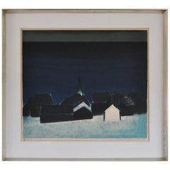 Lithography in Blue Colors by Jack Kampmann