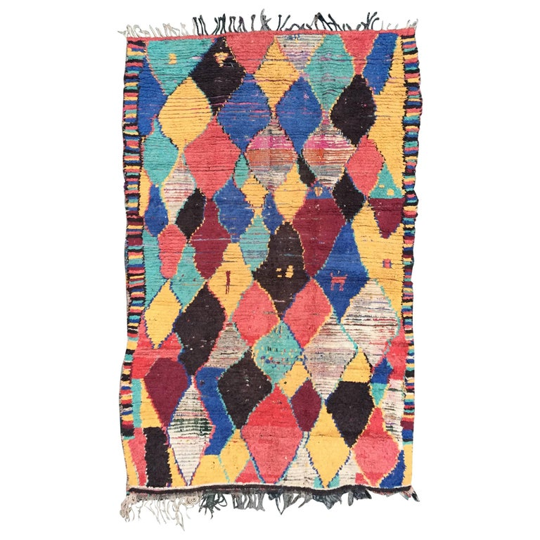 Azilal Rug, Moroccan Berber Carpet, 1980s