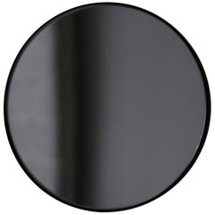 Black Tinted Orbis Round Mirror with Black Frame - Dia. 50cm