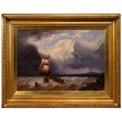 """A Brigantine off Tilbury"" by George Stainton"