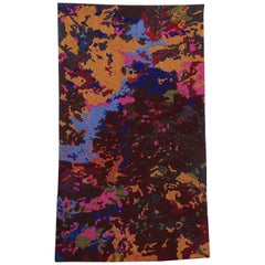 Handcrafted Embroidered Textile Contemporary Tapestry with Matt Beads