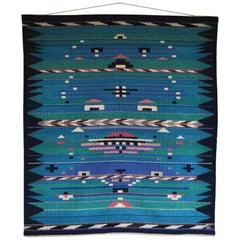 High Quality Handwoven Danish Tapestry from the Late 1980s