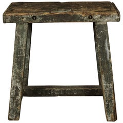 Industrial French Console Table, circa 1940