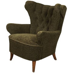 Midcentury Wingback Chair from Denmark, circa 1960