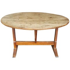 Antique French Wine Tasting Tilt-Top Table, 18th-19th Century