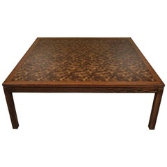 Large Square Patchwork Coffee Table from Denmark, 1970