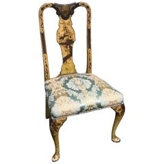 19th Century English Queen Anne Chinoiserie Side Chair