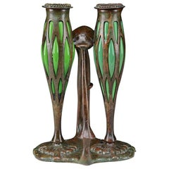 Tiffany Studios New York Bronze Candlestick